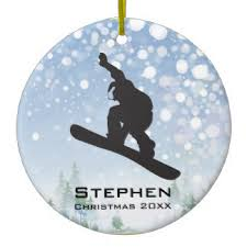 snowboard ornaments keepsake ornaments zazzle