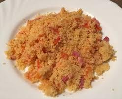 cuisiner la semoule semoule à la tomate et aux lardons recette de semoule à la