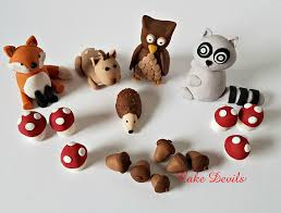 woodland cake toppers woodland creatures cake kit fox owl deer racoon