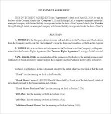 9 investment contract templates u2013 free word pdf documents