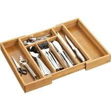 rangement couverts tiroir cuisine organisateur tiroir cuisine range couverts extensible en bois bambou