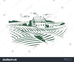 House Drawing by Farm House Drawing Stock Vector 570914596 Shutterstock