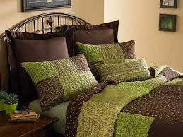 green bed set green and brown bedroom green and brown comforter sets queen sage