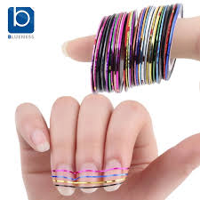 blueness beauty 10 rolls mixed color nail striping tape decal for
