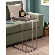 Living Room Sets Bob Mills Coaster Furniture Weathered Gray And Chrome Snack Table Hayneedle