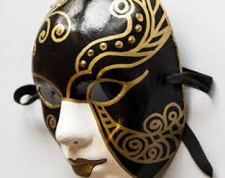 cool mardi gras masks black and gold mask etsy
