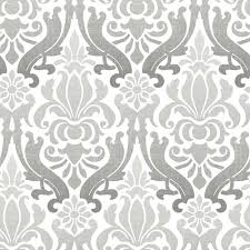 Best Peel And Stick Wallpaper by Nuwallpaper Nouveau Damask Peel And Stick Wallpaper Grey Wall