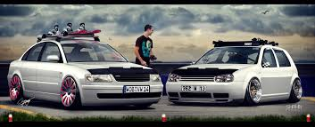 vw passat b5 vs vw golf iv by tuninger on deviantart