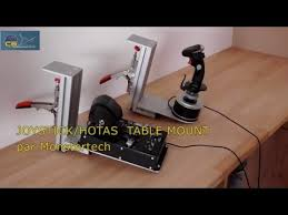 Joystick Desk Mount Test Of Hotas Table Mount By Monstertech Youtube