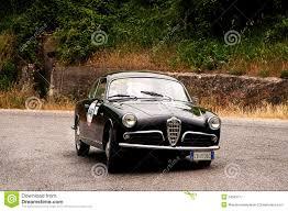 vintage alfa romeo alfa romeo giulietta sprint bertone 1957 editorial photography