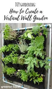 diy gardening how to create a vertical wall garden greener ideal