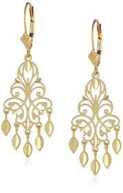 6 Beautiful Chandelier Earrings You Amazon Com 14k Yellow Gold Chandelier Earrings 1 5