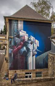 726 best street art images on pinterest street art urban art by sepe and chazme new mural tribute to the polish writer stasilaw lem luxembourg oct 2014