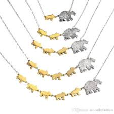 gold mother necklace images Wholesale mama bear 1 5 cubs bears animal pendant necklace silver jpg