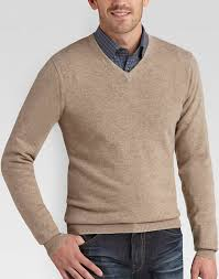 mens sweaters joseph abboud beige v neck sweater s sweaters