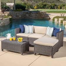 Wicker Sectional Patio Furniture - furniture piece ohana wicker patio furniture set outdoor with