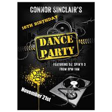 16th birthday party invitation urban grunge dance party