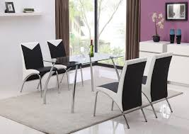chrome dining room sets jhi contemporary glass chrome dining room table 4 chairs amazon