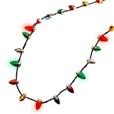 flashing christmas light necklace flashing christmas lights necklace the green head
