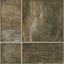 Laminate Flooring Ceramic Tile Look Shop Armstrong Flooring Stones And Ceramic 15 94 In W X 3 98 Ft L