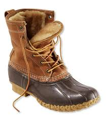 ll bean duck boots womens size 9 s bean boots by l l bean 8 tumbled leather shearling lined