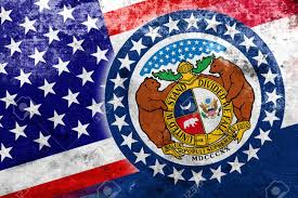 Misouri Flag Usa And Missouri State Flag With A Vintage And Old Look Stock