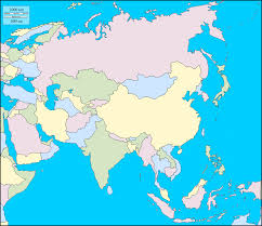 Physical Map Of East Asia by Map Of Wast Asia China Russia Mongolia Japan South Korea