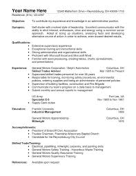 Objective In Resume For Job by General Warehouse Worker Cover Letter