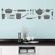 kitchen wall stickers and decals notonthehighstreet com kitchen utensils wall sticker