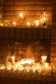 fireplace filled with candles looking for something to do when an