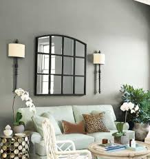 sweet and cozy home interior with grey walls and window wall decor