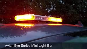 led equipped light bar dusk time driving with led equipped avian eye series mini light bar