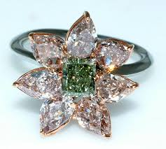 green diamonds rings images Gold jewellery green diamond rings jpg