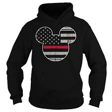 Black American Flag Tank Top Mickey Mouse American Flag Shirt Hoodie Tank Top