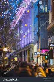 london christmas lights walking tour london uk december 30 2015 christmas stock photo royalty free