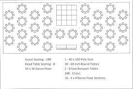 Wedding Seating Chart Template 40 X 100 Pole Tent Seating Arrangement