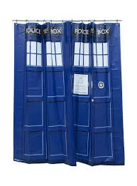 How To Keep Shower Curtain From Attacking You Doctor Who Tardis Shower Curtain Topic