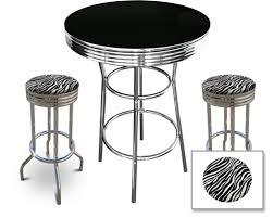 White Bistro Table The Furniture Cove Retro Black Bistro Table U0026 Pub Set With 2