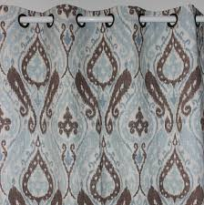 Blue Paisley Shower Curtain Teal Blue And Brown Curtains Intelligent Design Libra 84inch