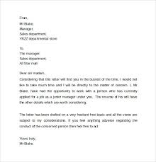ideas collection personal recommendation letter template free for