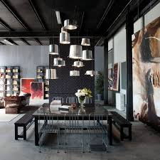 loft design in milan with dark black metals residence design