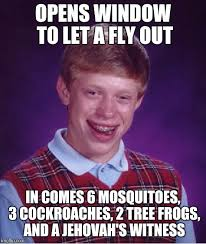 Fly Out Memes - bad luck brian meme imgflip