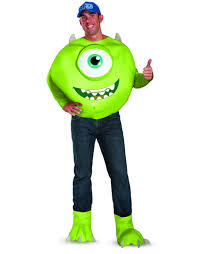 monsters inc halloween costumes adults monsters university mike deluxe halloween costume walmart com