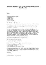 example of letter job offer resume acierta us