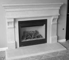 custom fireplace tile surround glazed wall paneling design lines