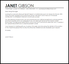 banquet manager cover letter 20 supervisor corporate fraud