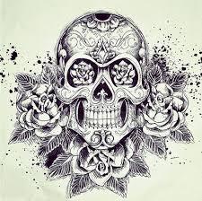sugar skull w roses tattoo tattoos pinterest sugar skulls