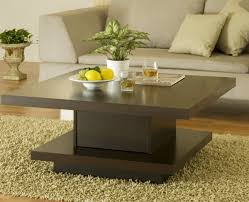 Best Coffee Tables For Small Living Rooms Creative Idea Contemporary Living Room With Square Brown
