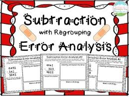 subtraction error analysis with regrouping center enrichment