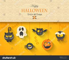 Poster Banner Background Halloween Party Night Stock Vector